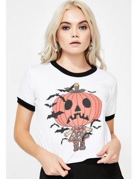 Pumpkin Babe Ringer Tee by Vera's Eyecandy