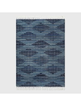 Diamond Tassel Outdoor Rug Blue   Opalhouse™ by Shop This Collection