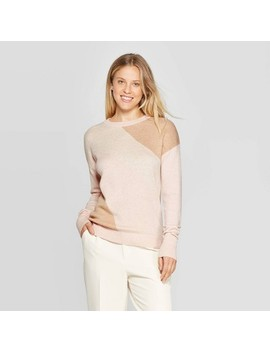 "<Span><Span>Women's Colorblock Long Sleeve Rib Knit Cuff</Span><Br><Span><Span>Crewneck Pullover Sweater   A New Day Crea…</Span></Span></Span><Span Style=""Position: Fixed; Visibility: Hidden; Top: 0px; Left: 0px;"">…</Span> by Knit Cuff Crewneck Pullover Sweater"