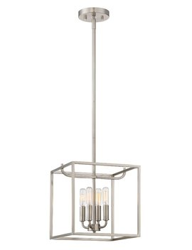 Bellicent 4 Light Single Square Pendant by Wrought Studio