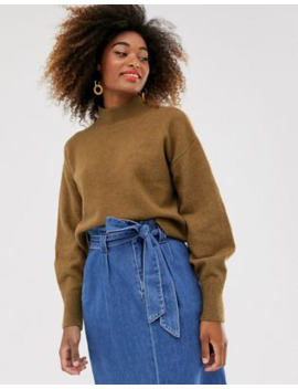 &Amp; Other Stories High Neck Knitted Jumper In Chestnut Brown by & Other Stories