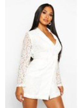 Lace Blazer Dress Lace Blazer Dress by Boohoo
