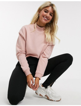 Miss Selfridge Sweat With Funnel Neck In Pink by Miss Selfridge
