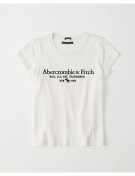 T Shirt étroit à Logo by Abercrombie & Fitch