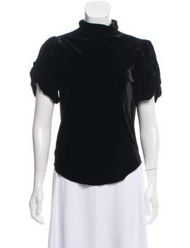 Mock Neck Short Sleeve Blouse by Étoile Isabel Marant