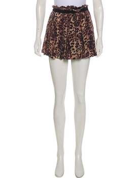 Silk Animal Print Mini Wrap Skirt by Étoile Isabel Marant