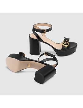 Platform Sandal With Double G by Gucci
