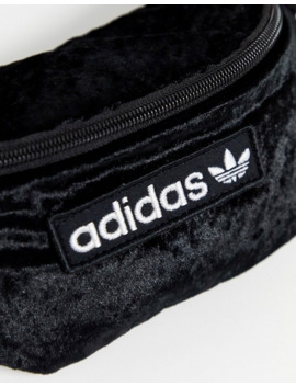 Adidas Originals Velvet Bum Bag In Black by Adidas