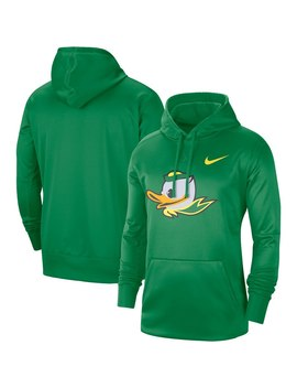 Oregon Ducks Nike Circuit Logo Performance Pullover Hoodie   Heathered Gray by Nike