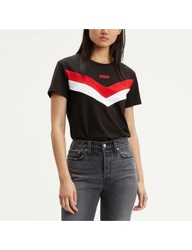 Cotton Colour Block Striped T Shirt by Levi's