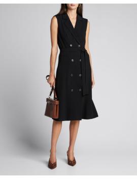 Hollie Double Breasted Sleeveless Midi Dress by Diane Von Furstenberg