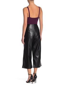 Faux Leather Crop Wide Leg Pants by 14th & Union