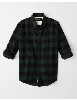 Buffalo Check Flannel Shirt by Abercrombie & Fitch
