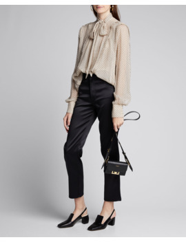 Flock Dotted Crinkled Chiffon Blouse by Jason Wu Collection