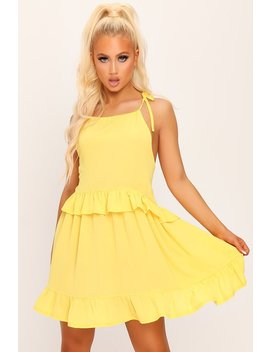 Yellow Halterneck Ruffle Dress by I Saw It First