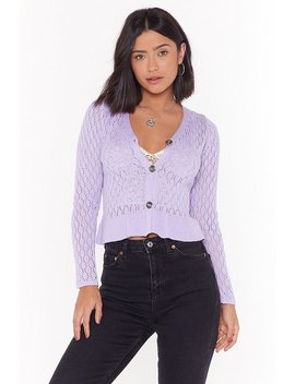 The Pointelle Deal Button Down Cardigan by Nasty Gal