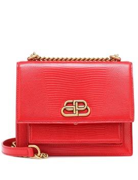 Sharp M Leather Shoulder Bag by Balenciaga
