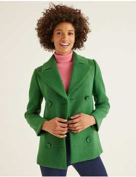 Seacole Pea Coat   Broad Bean by Boden