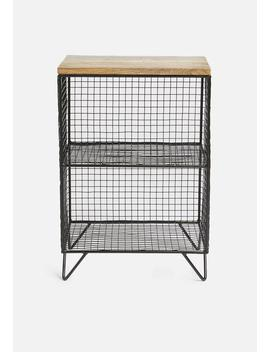 Orion Side Table   Black/Natural by Sixth Floor