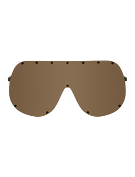 Brown Larry Shield Sunglasses by Rick Owens