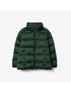 Performance Satin Down Jacket by Tory Burch