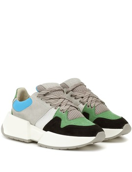 Paneled Suede Sneakers by Mm6 Maison Margiela