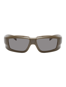 Grey & Black Larry Rick Sunglasses by Rick Owens