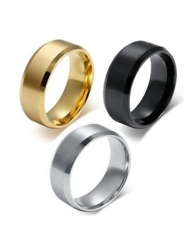 8mm Stainless Steel Ring Womens Men's Band Silver/Gold/Black/Rose Gold Size 5 15 by Unbranded
