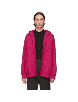 Pink Baja Cardigan by Saint Laurent