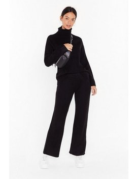 Get Knit Together Sweater And Wide Leg Pants Set by Nasty Gal