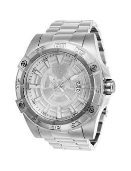 Invicta Pro Diver 27014 Men's 52mm Silver Tone Automatic Watch With Silver Dial by Invicta