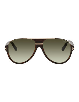 Tortoiseshell Dimitry Sunglasses by Tom Ford