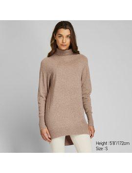 Women 3 D Knit Seamless Cashmere Turtleneck Tunic (6) by Uniqlo