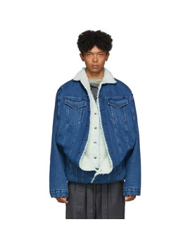 Navy Denim Sherpa Jacket by Y/Project