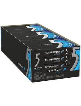 Wrigley's 5 Gum Peppermint Cobalt (15 Ct., 12 Pks.) by Wrigley
