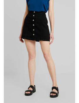 Button Thru A Line Skirt   A Lijn Rok by New Look