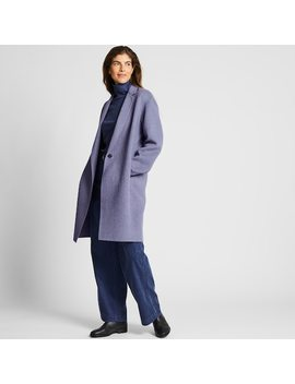 Women Double Faced Cocoon Silhouette Coat (9) by Uniqlo