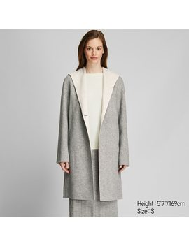 Women Double Faced Hooded Coat (5) by Uniqlo