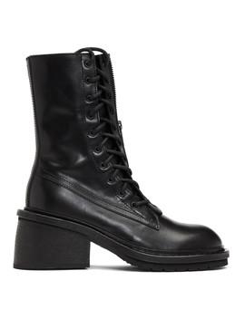 Black Block Heel Tucson Boots by Ann Demeulemeester