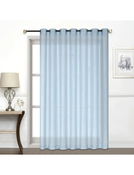 Porch & Den Carillion Jacquard Semi Sheer Patio Panel   Light Blue by Porch & Den
