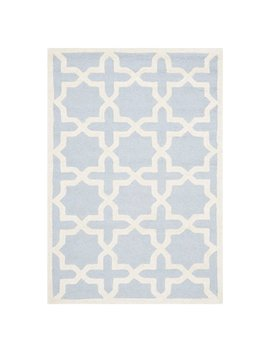 Martins Hand Tufted Wool Light Blue/Ivory Area Rug by Wrought Studio