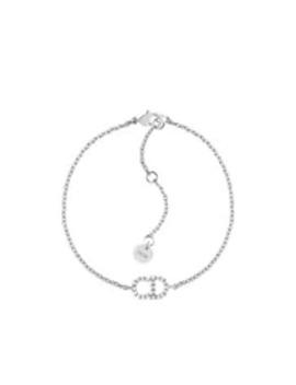 Armband Clair D Lune Van Palladium Metaal Met Witte Kristallen by Dior
