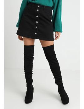 Button Skirt   A Lijn Rok by New Look Petite