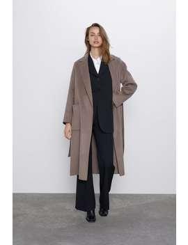 Spodnie Z Przeszyciami Z Przodu by Zara