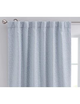 "Honeycomb Jacquard Blackout Curtain, 44 X 63"", Navy by Pottery Barn Kids"