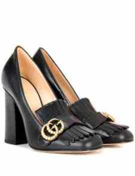 Verzierte Loafer Pumps Aus Leder by Gucci