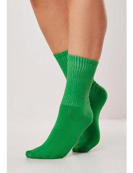 Green Sports Socks by Missguided