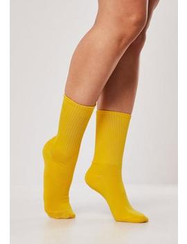 Mustard Sports Socks by Missguided
