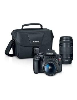 Canon Eos Rebel T7 Dslr Camera With Ef S 18 55mm + Ef 75 300mm Lenses   24.1 Megapixel Sensor by Canon