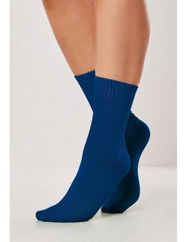Blue Sports Socks by Missguided